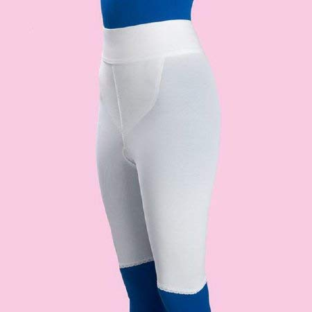 (Frank Stubbs Above Knee Compression Girdle White (Medium, Hip Size: 37 to 40 Inch))