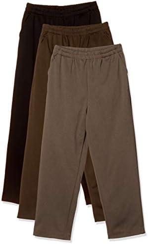 サイズ満載 杢調 らくらく 裏起毛パンツ 3本組 股下58cm レディース 177682