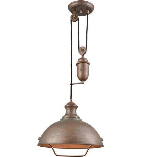 14l Pendant - Pendants 1 Light With Tarnished Brass Finish Medium Base 14 inch 100 Watts - World of Lamp