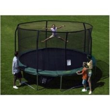 Net for 15ft Trampoline Enclosure using 5 Poles and Sleeves - JumpPod by Super Trampoline
