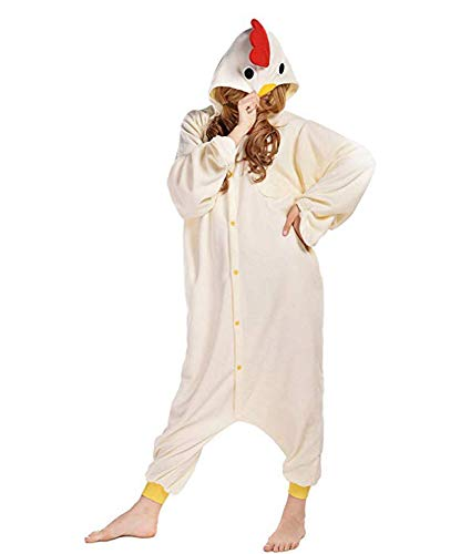 RECM Adult Chicken Pajamas Halloween Cosplay Costumes Animal Onesies XL for $<!--$25.99-->