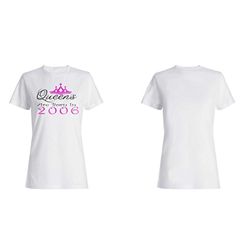 Queens sind 2006 geboren Damen T-shirt y52f