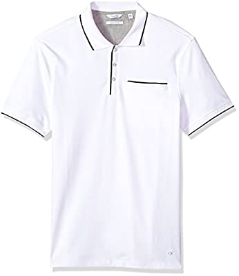 Calvin Klein Men's Short Sleeve Polo With Tipped Collar
