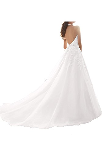 Linie mia Abiballkleider Spitze Prinzess A Lang Abendkleider Braut Ausschnitt Ballkleider Blau V La Promkleider Blau Glamour OHq4AwHp