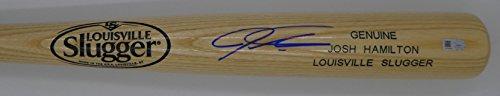 Josh Hamilton Autographed Blonde Louisville Slugger Bat (Louisville Slugger Blonde Baseball Bat)