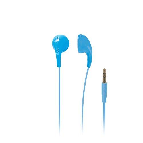 iLuv iEP205BLU Bubble Gum 2 Flexible, Jelly-Type Stereo Earphones - Blue ()