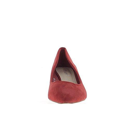 Zapatos punta roja aspecto compensado mujeres ante 5,5 cm talón