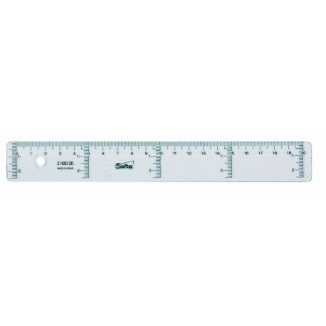 400920 /Lineal aus Glas safta/ 20/cm
