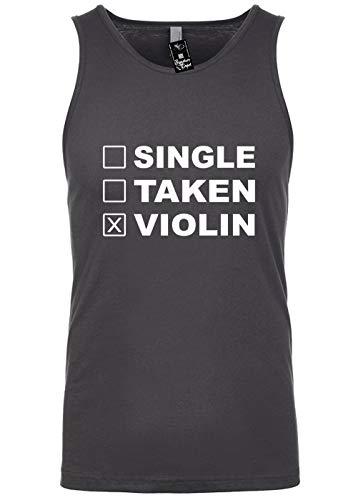 Signature Depot Mens Funny Tank Top T-Shirt Unisex Tee Size L (Single Taken Violin (Humorous)