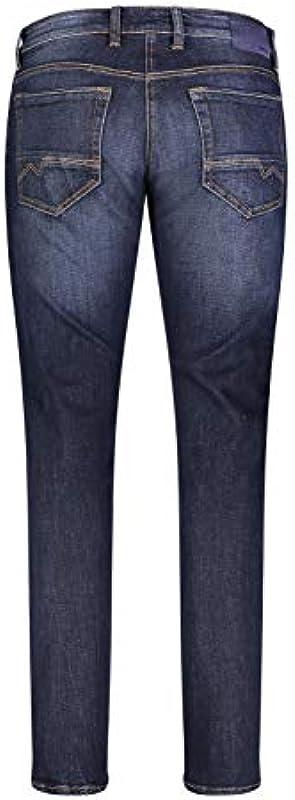MAC Jeans spodnie męskie nowoczesne Fit Arne Pipe niebiesko-ciemne - 40W / 36L: Odzież
