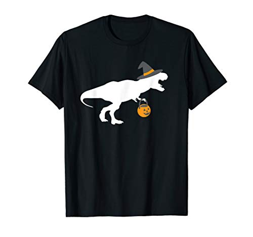 T-Rex Witch Halloween Costume Shirt, Funny Kids -