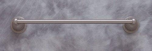 JVJHardware 26818 Renaissance 18 in. Fluted Towel Bar Set Concealed Screw - Satin Nickel
