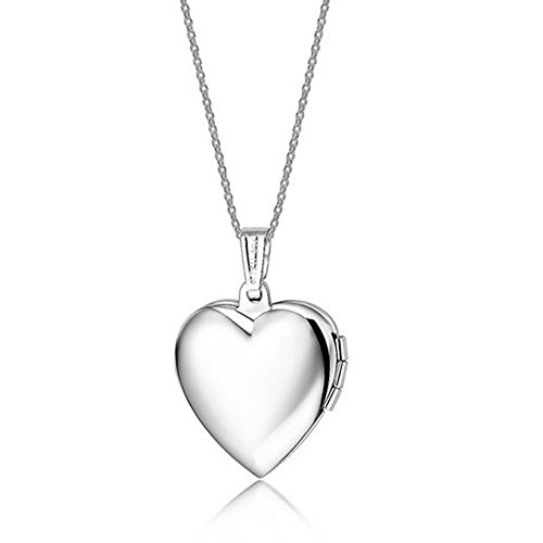 (YUMILY Stainless Steel Friend Photo Picture Frame Heart Locket Pendant Necklace)