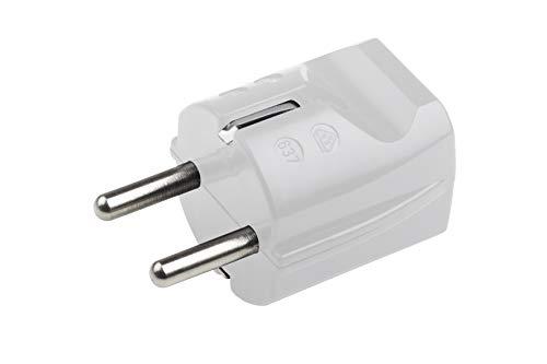 Meister 7421010 Aarding contactstekker – kunststof – wit – 250 V – 16 A – maximale kabeldoorsnede 2,5 mm² – IP20…