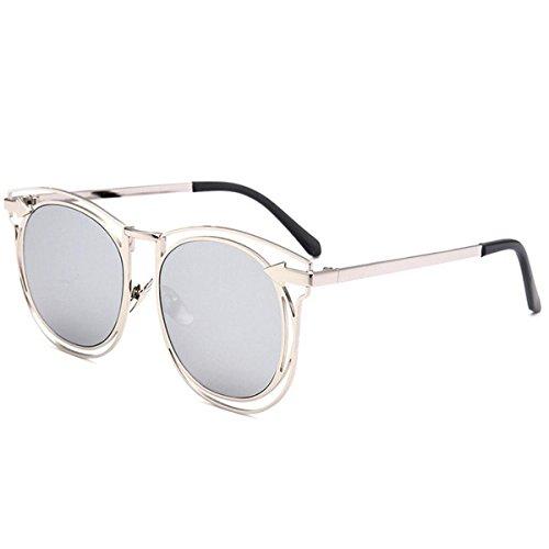 Women's Modern Fashion Mirror Colorful Golf Designer Running Personality Wild Cat Eye Sunglasses Goggles - Sunglasses Wood Wild