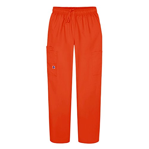 Sivvan Women's Scrubs Drawstring Cargo Pants (Available in 12 Colors) - S8200 - Mandarin Orange - - Outlet Cargo Store