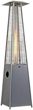 Estufa de Terraza Pirámide en acero inoxidable BUTSIR tubo de cuarzo 227 cm 13 kW