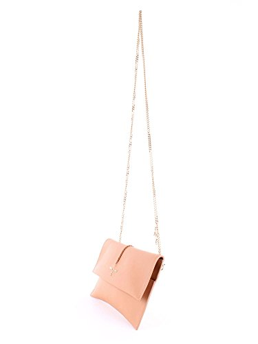 Patrizia Pepe Borsa Clutch Tasche Leder 28 cm Clear Beige PeoNkuXw
