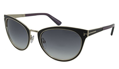Tom Ford Women's TMF-SUNG-FT0373-01B-56 Designer Sunglasses, Black & - Tom Ford Ladies