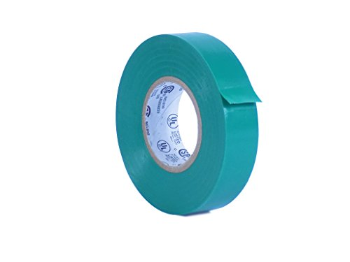 WOD EL-766AW Professional Grade General Purpose Green Electrical Tape UL/CSA listed core. Utility Vinyl Rubber Adhesive Electrical Tape: 3/4in. X 66ft. - Use At No More Than 600V & 176F (Pack of 1)