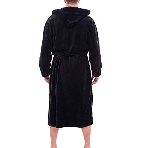 Maniche Lunghe Cappotto Caldo Uomo Accappatoio A Casa Da Vestaglia Peluche Vestiti Allungato Red Inverno Scialle Uomini Av1CPF