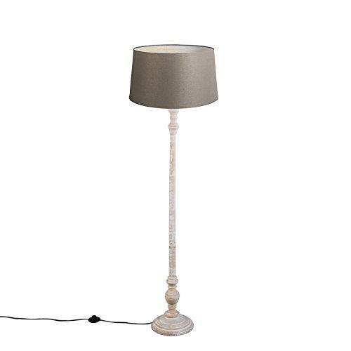 QAZQA Clásico/Antiguo Lámpara de pie CLASSICO pantalla lino ...