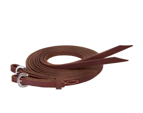 Weaver Leather Stacy Westfall ProTack Oiled Split Rein, 5/8-Inch x 8-Feet, Brown (Leather Steel Reins)