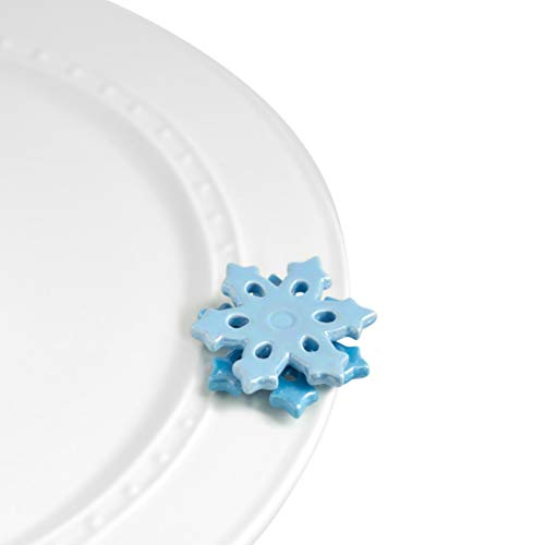Nora Fleming Hand-Painted Mini: No Two Alike (Blue Snowflake) A106