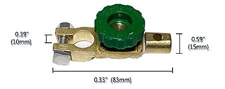 Isolateur Batterie Electrique Interrupteur Terminal Connexion pour 12V 12V 36V Voiture Camion Bateau V/éhicule 15-17mm Top Poste