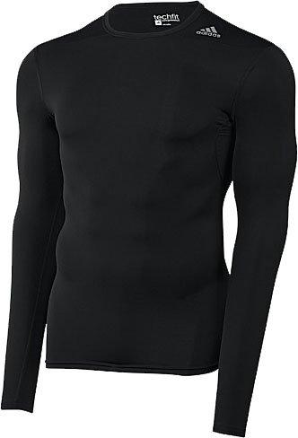 Adidas Techfit Mens Long Sleeve Training Top XS Black