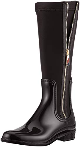 Damen Hilfiger Rain Material Stiefel Tommy Long Mix Hohe Boot Sf1F1Rq