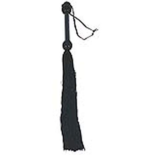 Rubber Whip 22 Inch Black Whips & Paddles by Bigus Bangs inc