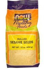 Now Foods Sesame Seeds Hulled, 1 lb (Pack of 4)
