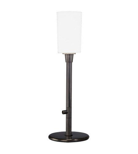 Robert Abbey Z2069 Lamps with Frosted White Cased Glass Shades, Deep Patina Bronze Finish ()