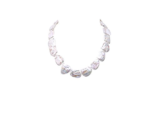 Strands Necklace Pearl Baroque Double (JYX Classic Baroque Necklace Freshwater Cultured Pearl Necklace 19
