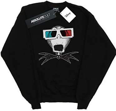 Disney Herren Nightmare Before Christmas Jack Skellington 3D Glasses Sweatshirt Schwarz XXXX-Large