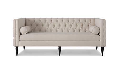 Jennifer Taylor Home Diane Tuxedo Sofa, Sky Neutral