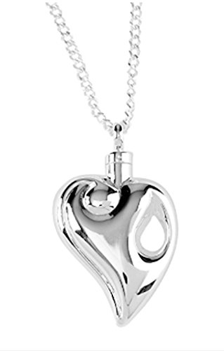 Silver-Plated Reunion Heart Urn Necklace on 24 Chain