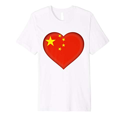 I Love China T-Shirt | Chinese Flag Heart Outfit