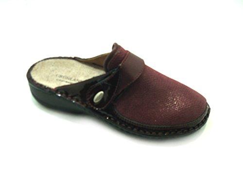 GRÜNLAND Women's Slippers Burgundy O83Pk