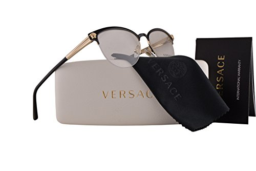 36c4aeb21d7f Versace VE1235 Eyeglasses 53-17-140 Black Pale Gold 1371 VE 1235:  Amazon.ca: Clothing & Accessories