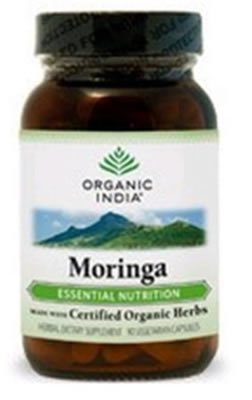 Organic India Moringa Vegetarian Capsules - 90 Ea, 12 Pack by ORGANIC INDIA