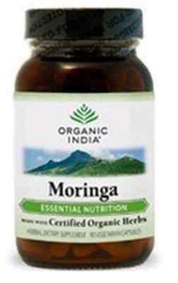Organic India Moringa Vegetarian Capsules - 90 Ea, 12 Pack