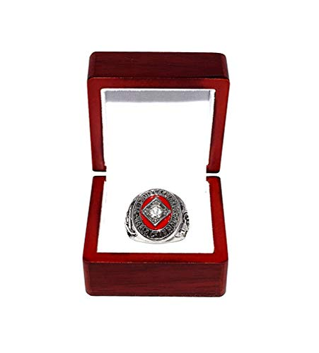 ST. LOUIS CARDINALS (Vintage) 1964 WORLD SERIES CHAMPIONS (Victory Vs. Yankees) Rare & Collectible High-Quality Replica Baseball Silver Championship Ring with Cherrywood Display Box (1964 St Louis Cardinals World Series Ring)