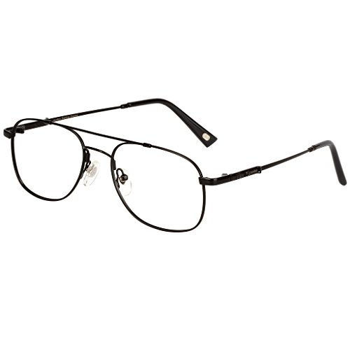 LianSan Mens Womens Designer Titanium Compact Vintage Fashion Reading Glasses with case 1.0 1.25 1 .5 1.75 2 00 2.25 2.50 2.75 3.0 3.25 3.5 4.0 L3695T Black - Canada Designer Glasses Reading