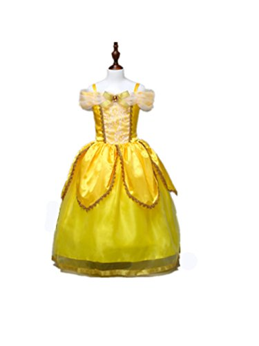 UAYHQ Little Girls' Beauty and the Beast Belle Child Costume (Disney 2017 Halloween Movies)