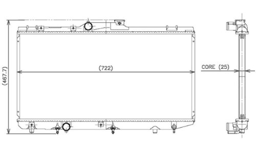 Denso 221-3108 Radiator
