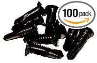 GKL Metal #14 Screws with #12 Head Black finish GKL Products G-SK100-BLK 100 pack