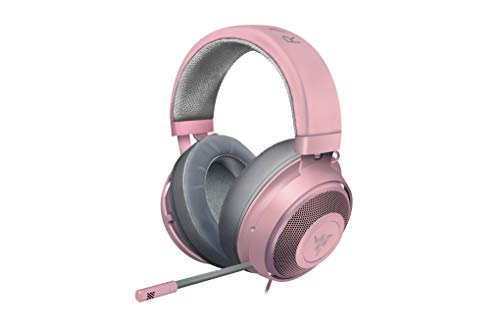 - Razer Kraken Gaming Headset 2019: Lightweight Aluminum Frame - Retractable Noise Cancelling Mic - for PC, Xbox, PS4, Nintendo Switch - Quartz Pink
