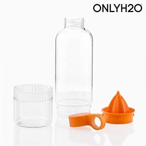 Appetitissime Sensations Juicer Botella Infusora de Cítricos con Exprimidor, Naranja y Transperente, 7.5x7.5x25 cm